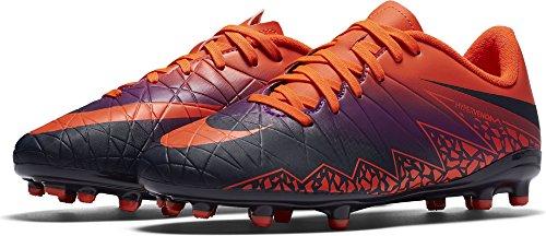 Nike 744943-845, Botas de fútbol para Niños, Naranja (Total Crimson/Obsidian-Vivid Purple), 37.5 EU