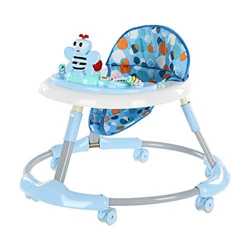 Trotteur bébé HUYP Baby Walker and Rocker Centre D'activités Pliable pour Enfants Walker Baby Walker Premiers Pas 6-18 Mois (Color : Blue)