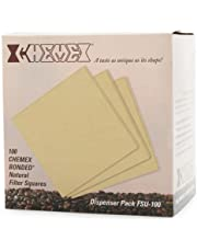 Chemex Natural Coffee Filters, Square, 100 Count - Exclusive Packaging