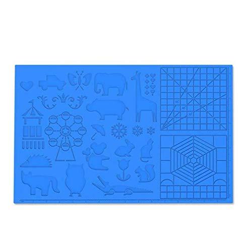 3D-Stiftmatte 3D-Druckstift Große Silikon-Design-Matten-Pad-Stifte Zeichenwerkzeuge (blau)