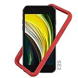 RhinoShield Funda Bumper Compatible con [iPhone SE2 / SE (2020) / 8/7] | CrashGuard NX - Carcasa con Tecnología de Absorción de Golpes - Resistente a Impactos de más de 3.5 Metros - Rojo