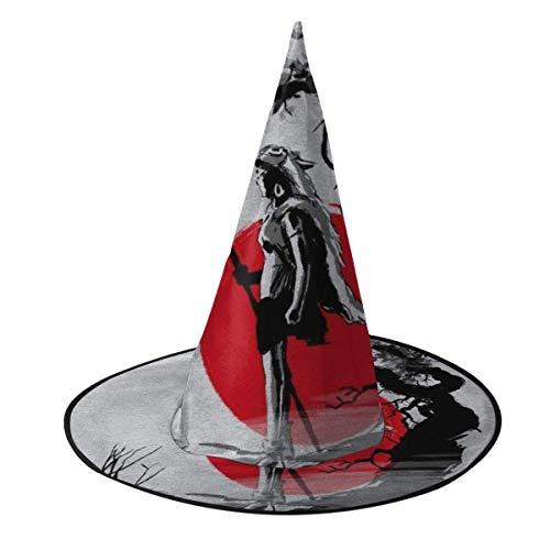 Sombrero de Halloween Princesa Mononoke Protector del Bosque Sombrero de Bruja Sumie Halloween Disfraz Unisex para Vacaciones Halloween Navidad Carnavales Fiesta