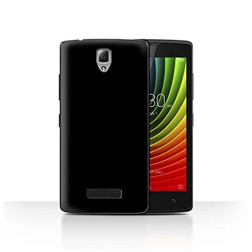 Hülle Für Lenovo A2010 Farben Schwarz Design Transparent Ultra Dünn Klar Hart Schutz Handyhülle Hülle