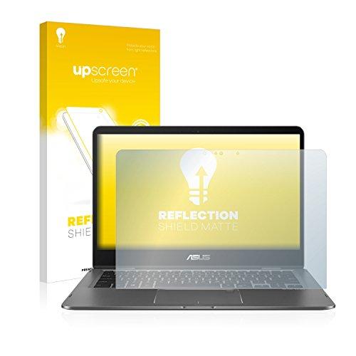 upscreen Entspiegelungs-Schutzfolie kompatibel mit Asus Zenbook Flip 14 UX461UN – Anti-Reflex Bildschirmschutz-Folie Matt