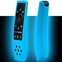 Protective Silicone Case Compatible with Samsung Smart TV BN59 Series Remote Controller Holder, Soft Skin Shockproof Anti-Slip Cover for Samsung QLED 8K 4K TV Remote BN59-01312A (Glow Blue)