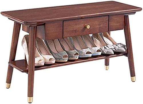 N/Z Inicio Equipamiento Banco de Zapatos de bambú para Entrada Pasillo Dormitorio y Armario Taburete para Cambiar Zapatos