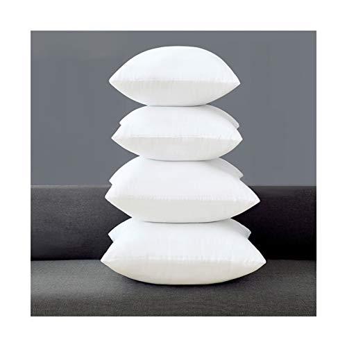 Cojín de almohada suave y elástico para interior o casa, para salón, dormitorio, hotel, almohada cuadrada para mejorar el insomnio 3.12 (color: blanco, tamaño: 50 x 50 cm)
