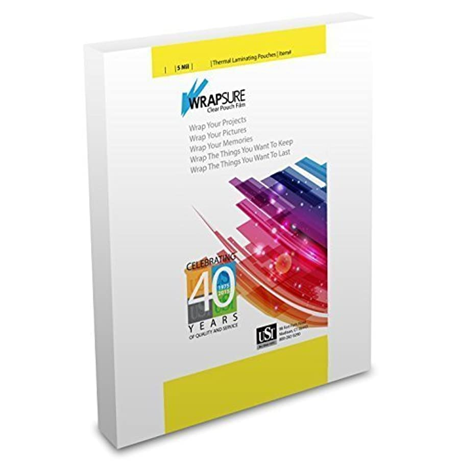 USI WrapSure Thermal (Hot) Laminating Pouches/Sheets, Letter Size, 5 Mil, 9 x 11 1/2 Inches, Gloss, Box of 100