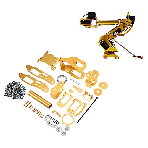 LaDicha 7Dof Golden Mechanical Robot Arm Claw para Arduino DIY Kit Supprot Mg996 Servo