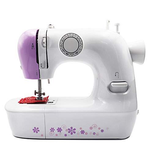 Máquina de coser multifunción de 12 puntadas Máquina de coser de bloqueo plano de hilo doble de bricolaje doble hogar automático
