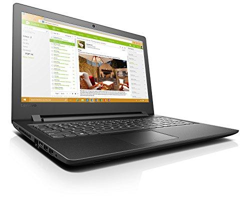 Lenovo Ideapad 110-15IBR - Portátil de 15.6' HD (Intel Celeron N3060, RAM de 4 GB, HDD de 500 GB, Intel HD Graphics 400, Windows 10 Home) negro - teclado QWERTY Español