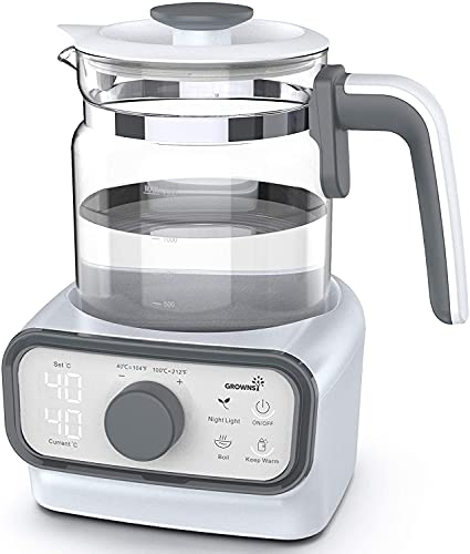 Baby Instant Warmer | Bottle Warmer | Formula Dispenser | Electric Kettle with Accurate Temperature Control for Formula, Coffee and Tea, 1.3 Liter with Timer, Auto Shut-Off and Boil-Dry Protection