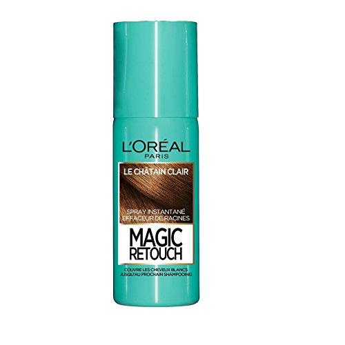 L'Oréal Paris Spray Instantané Correcteur de Racines & Cheveux Blancs - Magic Retouch - Châtain Clair - 75 ml