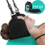 MEQI Cervical Hammock Traction Device for Neck Pain Relief Men and Women [2020 Updated] - Durable Portable Head Support Stretcher Gift for Mom and Dad