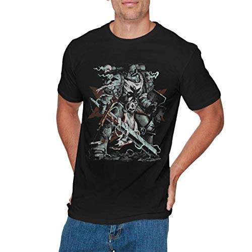 Sunlun Herren Classic Warhammer T-Shirt, Schwarz Gr. XXL, Schwarz