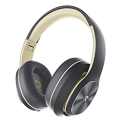 Rydohi Wireless Headphones Over Ear, [100 Hrs Playtime] Bluetooth Headphones, Foldable Hi-Fi Stereo Bass, Soft Memory Earmuffs, Built-in HD Mic, Wired Mode for TV/PC/Phone (Shandow Grey) by Rydohi