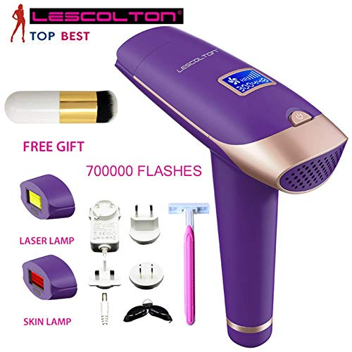 HKRT Home Pulsed Light IPL-Laser-Epilierer, der schmerzloses Gerät zur dauerhaften Haarentfernung rasiert, 700000-mal Lila1