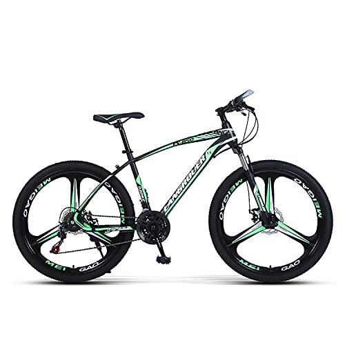 Sanhai Bicicleta De Montaña 27-Speed Light Mountain Bike Double Disc Freno Frente Frente Frente Free Frente Es Adecuado para Adultos, Adolescentes,Verde,A