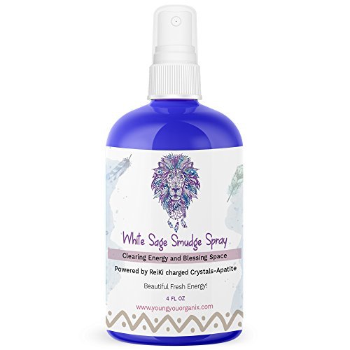 YoungYou Organix White Sage Smudge Spray Cleanses Negative Energy. Infused with Spirits of Protection and Abundance. Best Alternative to Sage Smudge Sticks