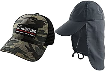 2-Pack Akaso Sun Caps w/ Neck Flap & Breathable Outdoor Sun Hat