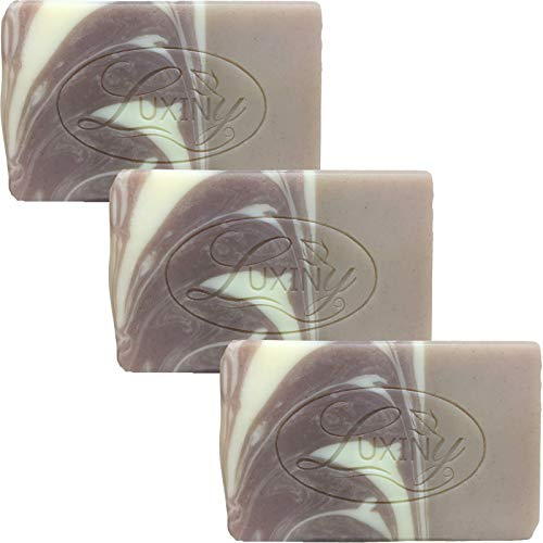 Natural Soap Bar, Luxiny Rosemary Lavender Handmade Body Soap and Bath Soap Bar is Palm Oil Free, Vegan Castile Soap with Essential Oil for All Skin Types Including Sensitive Skin (3 Pack)