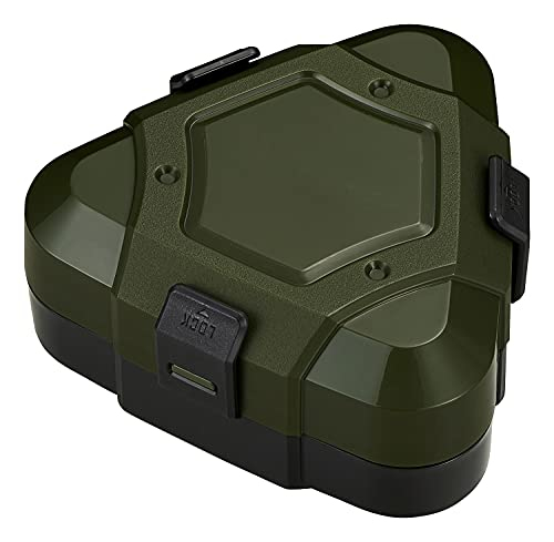 OSK 弁当箱 おにぎりケース タフメシ [爆弾おにぎりが作れる] ダークグリーン 日本製 LS-35