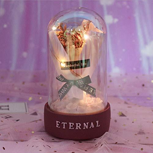 Gyjcd Nachtlampje Ambachtelijke Cadeau Decoratie Tafellamp Thuis Student Cadeau Bloem Wens Ster Licht