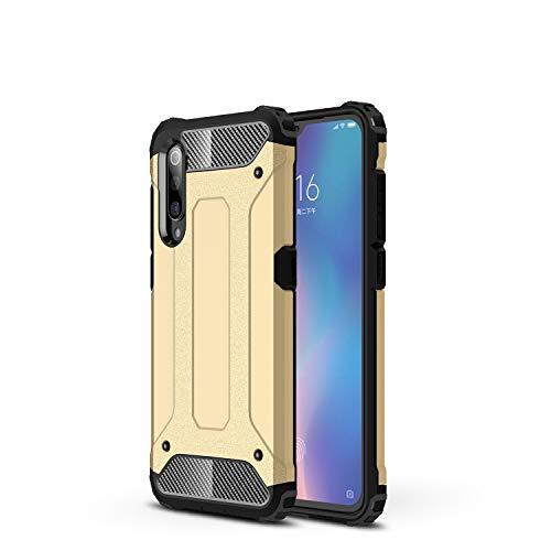 NOKOER Funda para Xiaomi Mi MAX 4, 2 in 1 PC + TPU Cover, A Prueba de Golpes Telefono Movil Funda [A Prueba de Polvo] [Huella Digital Anti] Case para Xiaomi Mi MAX 4 Smartphone - Dorado
