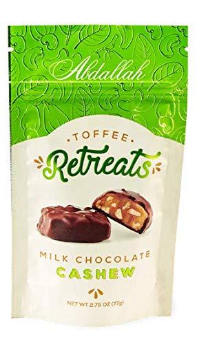 Abdallah Chocolates Milk Chocolate Cashew Toffee Retreats, 5.5 oz, 2 Pack