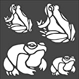 Super_deals_USA 1-5.5x5.5 inch Stencil, Nautical Frog Toad Amphibian (#nb5)