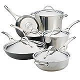 Anolon 11-Piece Stainless Steel & Hard Anodized Aluminum Cookware Set