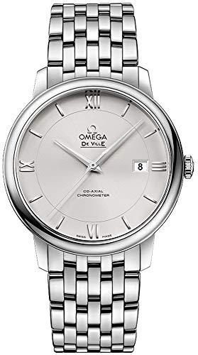 Omega DeVille Prestige zilveren wijzerplaat dameshorloge 424.10.40.20.02.003