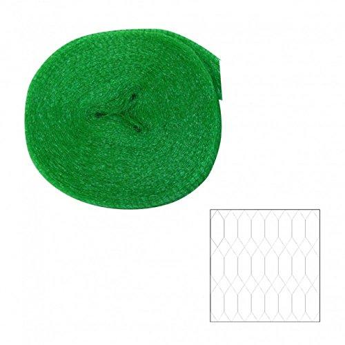 Xclou Vogelschutznetz ca. 2 x 10 m, elastisches Pflanzenschutznetz aus Polybändchen, Gartennetz mit 8 x 8 mm Maschenweite, hellgrün