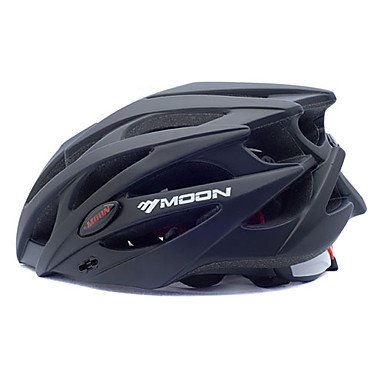 MEEX MOON - Casco de ciclismo negro PC + EPS 25 Vents MTB
