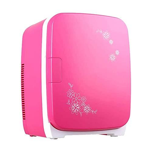 QJY Micro-Frigorífico 15L refrigerador portátil Inicio Silencio Doble núcleo Refrigeración compartida Mini Cuidado de la Piel Nevera (Color : Red)