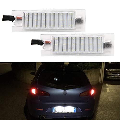 CANBUS erreur LED gratuit Nombre lumière de plaque d'immatriculation lampe pour Renegade 2014–2017 Car-styling arrière Lampes LED Blanc