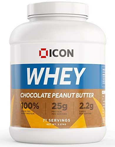 ICON Nutrition Whey Protein Powder 2.27kg, 71 Servings - Chocolate Peanut Butter