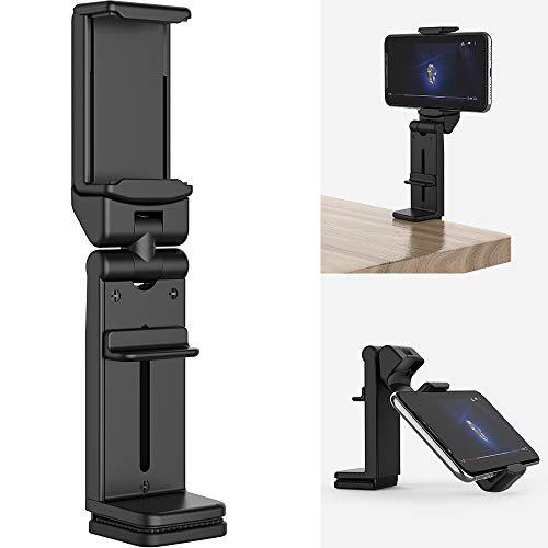 TATE GUARD Handyständer verstellbar Tragbare Halterung 360° drehbare Kompatibel mit iPhone XS MAX/X/XR/8/7/6 und Galaxy S10/S10+/S9/S8/S8+und mehr für Schreibtisch Bett Küchenschrank Flugzeug Schwarz