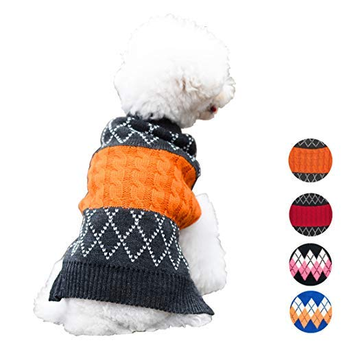 """kyeese Dog Sweater Dog Pullover Knitwear Fall Winter Warm Back Length 10"""""""