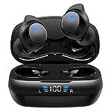 【2021版 Bluetooth5.2技術 瞬時接続】ワイヤレスイヤホン HiFi高音質 ブルートゥース イヤホン LEDディスプレイ電量表示 IPX7防水 自動ペアリング イヤフォンbluetooth 両耳 左右分離型 iPhone/Android対応