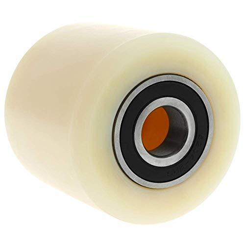 PrimeMatik - Paletten Fixierer Rad für Hubwagen Nylon Rolle 80x70 mm 700 Kg 4-Pack