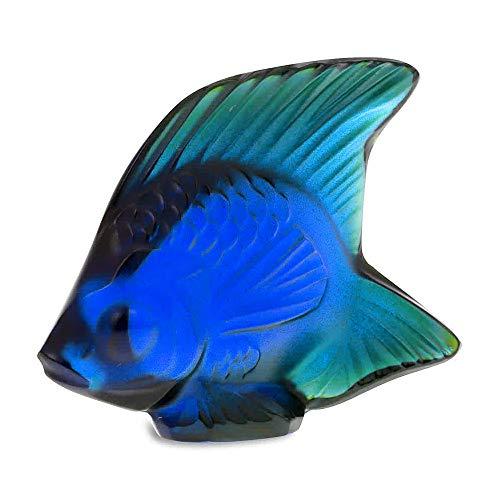 Lalique Seal pesce, Cap Ferrat colore: blu