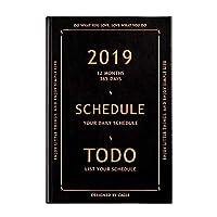 A5 ヴィンテージ Pu ノートブック 2019 アジェンダカレンダー文具ブック時間管理毎週プランナージャーナル日記ハンドブック新年ギフト