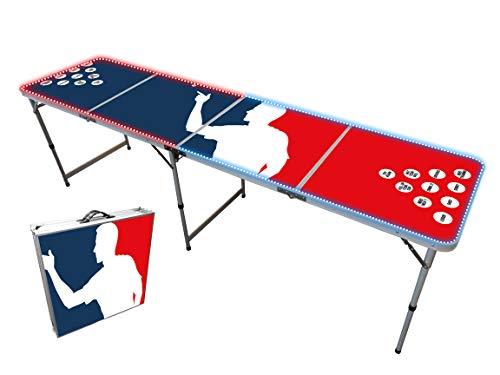 Offizieller Leuchtender Player Flash Beer Pong Tisch | Mit LED Beleuchtung | Premium Qualität | Offizielle Wettkampfmaße | Kratz und Wassergeschützt | Partyspiele | Trinkspiele | OriginalCup®