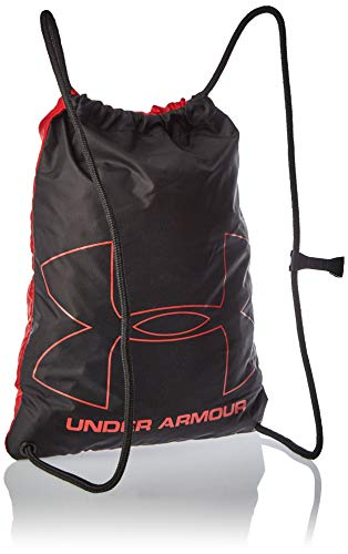 Under Armour Carry-All Gym Rucksack for Men and Women, Running Bag with Chest Clip and Drawstring Ozsee Sackpack, Red/Black/White (600), One Size OSFA