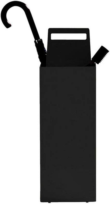 Zxwzzz Hotel Lobby Umbrella Storage Home Multi-Function Personalized Umbrella Bucket (color   Black)