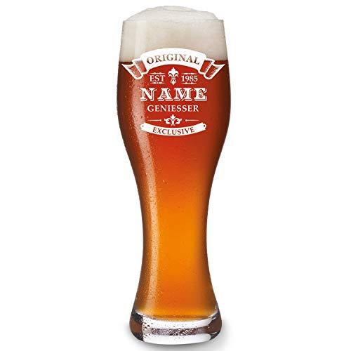 Leonardo bicchiere da birra con gratis dedica personalizzata