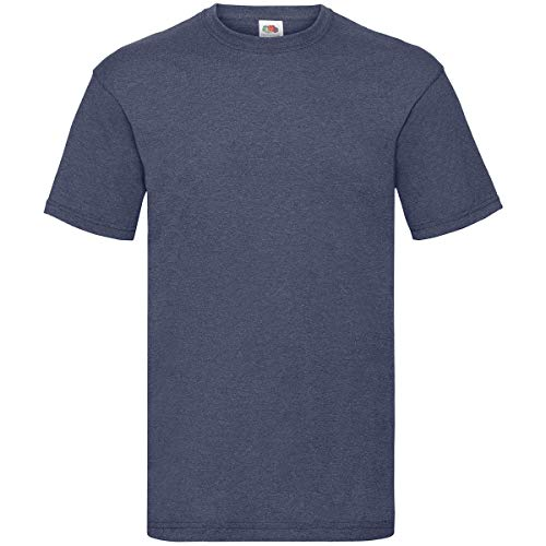 Fruit of the Loom Valueweight T-Shirt S M L XL XXL XXXL (M, Vintage Heather Navy)