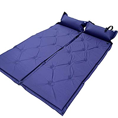 Outdoor Sleeping Pad Comfortable & Compact Self Inflating Sleeping Mat with Pillow, Lightweight, Moisture-Proof Camping Pad, Perfect for Hiking & Backpacking (Navy-Blue)