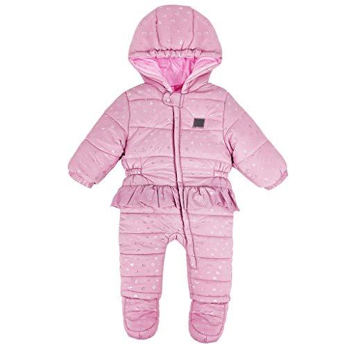Baby Schneeanzüge Overalls mit Kapuze Winter Strampler Baumwolle Jumpsuit mit Füßen Spielanzug Schlafanzug Outfit Wintermantel 9-12 Monate